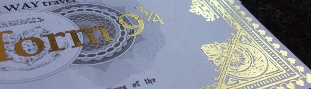 Billete tren Hogwarts express. Hogwarts express ticket