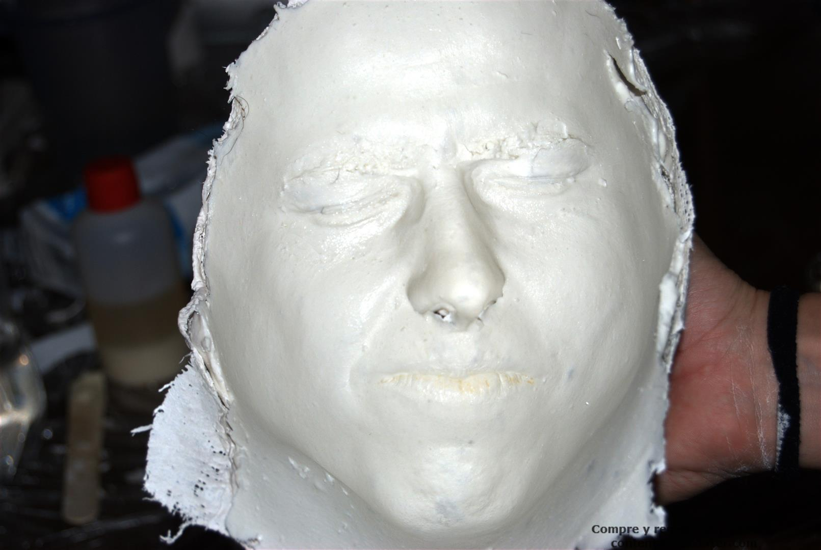 Molde de cara face mold alginato alginate diy - Como hacer un molde de escayola ...