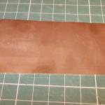 Plancha de latón limpia