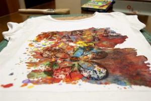 Ceras pegadas a la camiseta