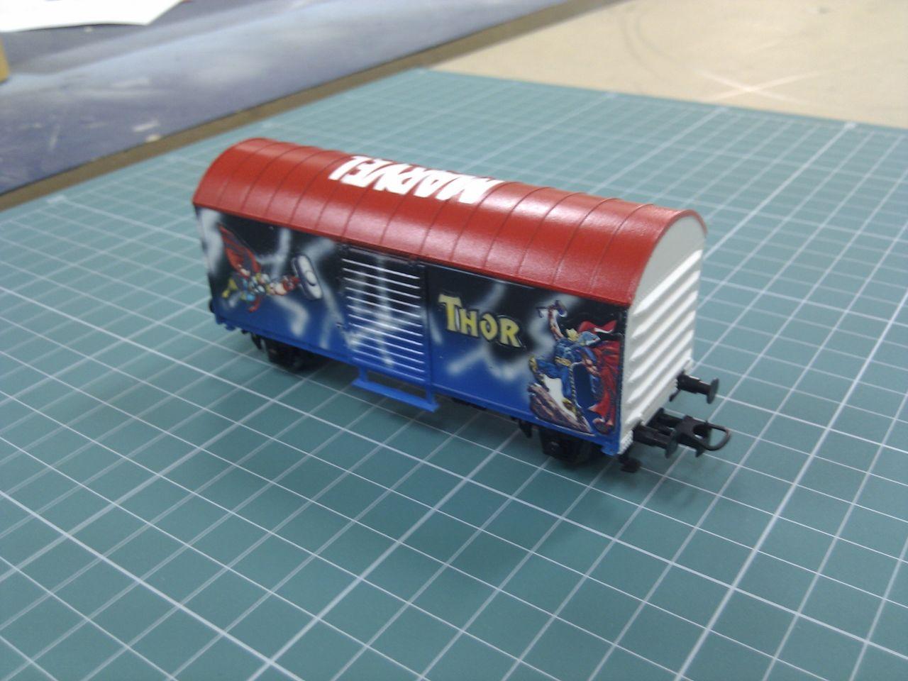 Vagón personalizado (marvel) custom wagon (marvel)
