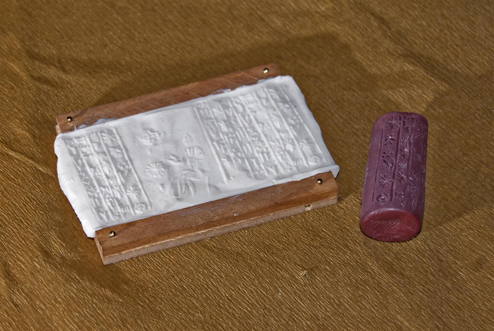 Réplica sello cilíndrico. Cylinder seal réplica